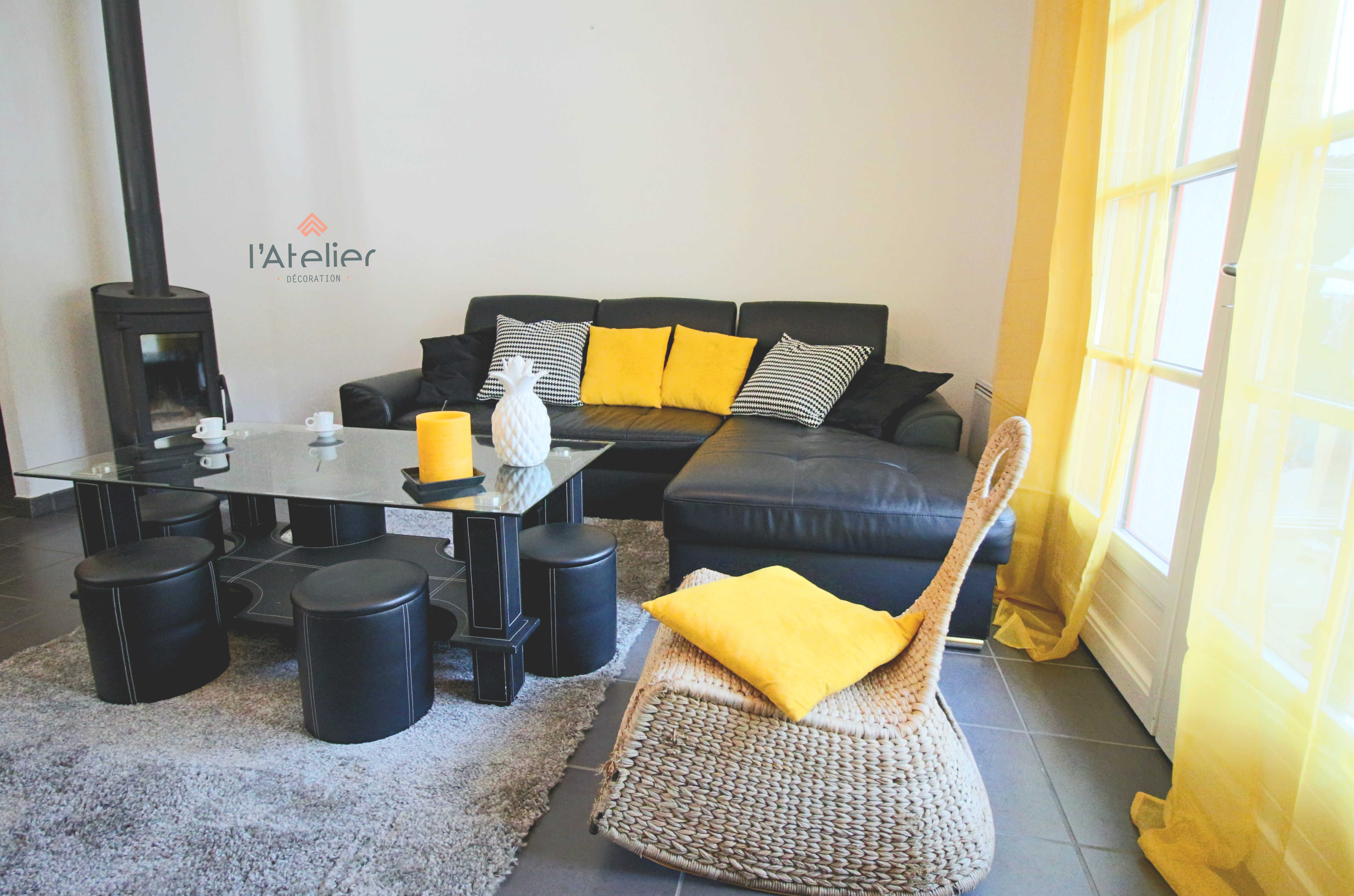 yellow touch - home staging pour l'agence square habitat saint lary